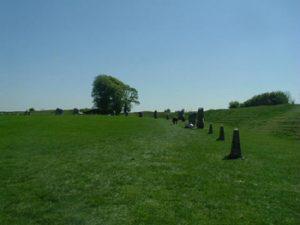 avenue of stones at Avebury