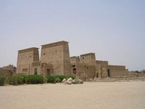 The Isis Temple of Philae at Aswan