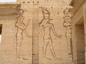 scene from Orisris legend at Philae