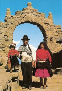 Uros family on Taquile