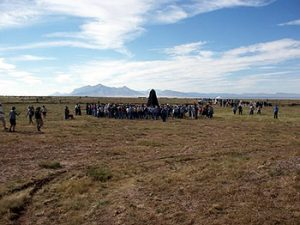visitors at the Trinity Site