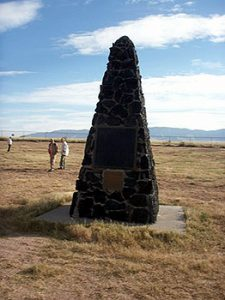 obelisk marks Ground Zero at Trinity Site