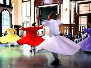 Sufi whirling dancers