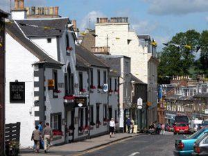 Melrose Scotland city street
