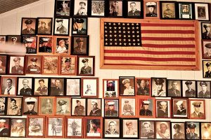 Wall of Veterans at Hwy77 Cafe
