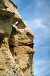 face formation in rocks