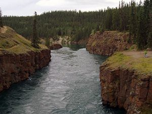 White Horse rapids on Yukon River