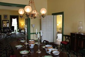 dining room of Hunt Morgan house