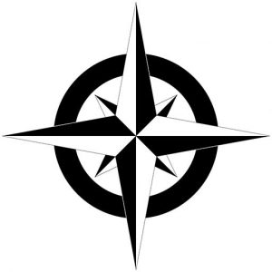 Travel Through History compass rose icon