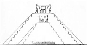 illustration of pyramid within Kukulcan