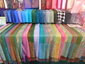 Silk Scarves in Charleston Market