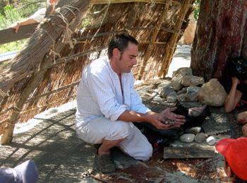 Fire making demonstration
