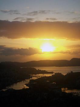 sunrise over Bergen