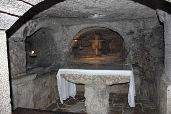 underground church altar
