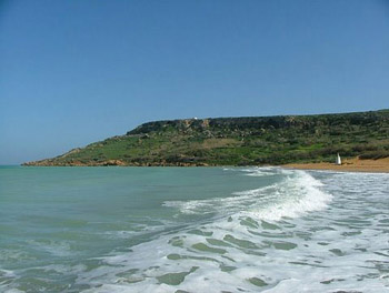 waves nearing Gozo beach