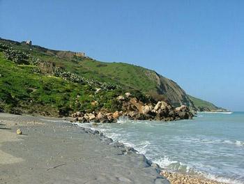 shoreline on Gozo island