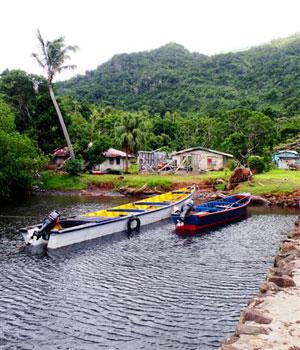 boats moored Fiji