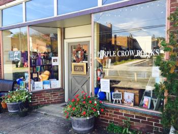 Purple crow bookstore exterior