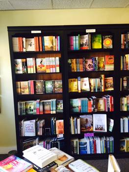 inside Purple Crow bookstore