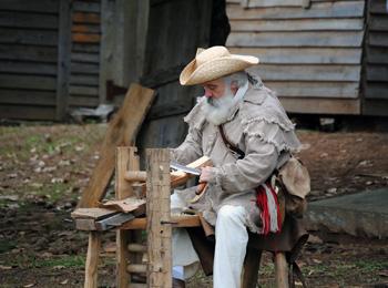 primitive woodwork demonstration