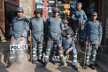 Kathmandu police officers