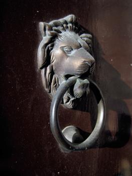 lion door-knocker