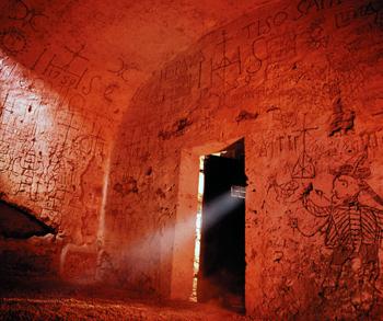 graffiti in prison cell