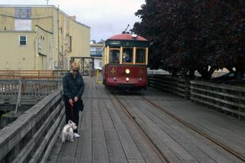 Astoria Oregon trolley car