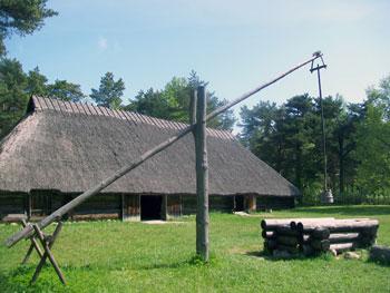 Tallinn open air museum house and well