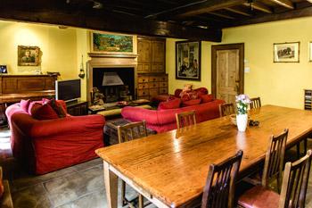 sitting room at Ponden Hall