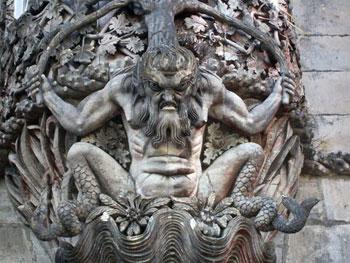 man-fish sculpture
