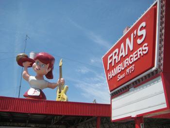Fran's Hamburgers sign