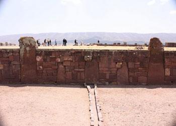 enormous wall at Old Tiwanaku