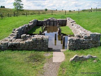 Roman ruins at Chesters