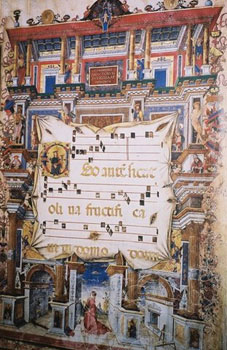 Illuminated musical page