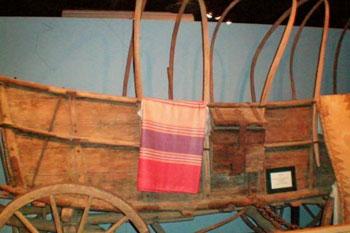 1839 pioneer wagon in museum