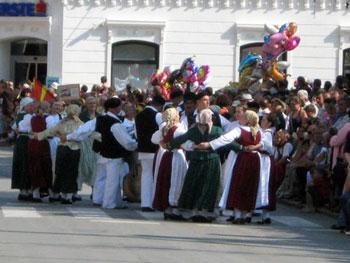 dancers on street