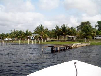 dock at Lamanai