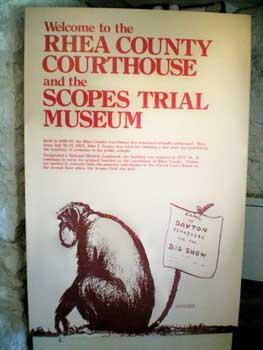 Scopes Trial Museum sign