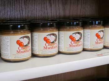 jars of cherry mustard