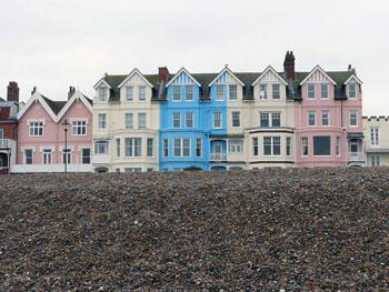 row of houses, East Anglis