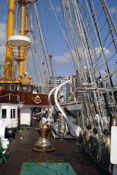 On deck of Esmeralda