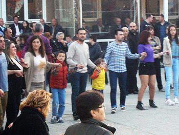 Greek street dancing