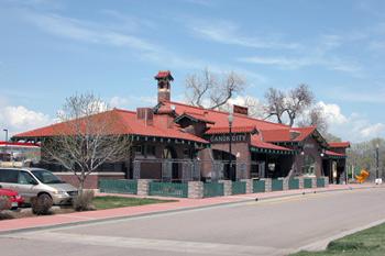 old Santa Fe railroad station