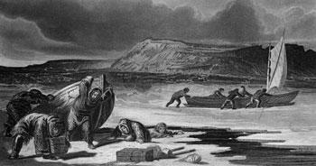vintage illustration of arctic exploration