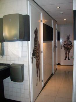 zebra toilet in Convention Centre