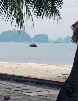 Halong Bay beach