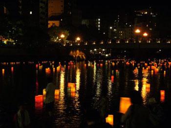 lanterns in water
