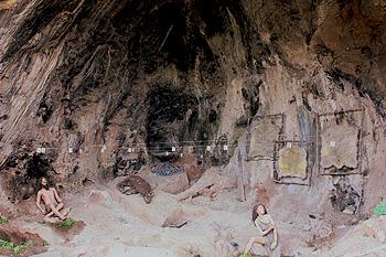 Garmal Cave - Neanderthal exhibi