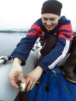 landing a fish